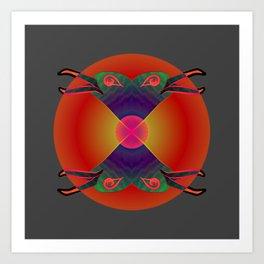 Red Kiss / Love Symbol / Pattern 12-01-17 Art Print
