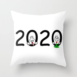 2020 - Miserable year! Throw Pillow
