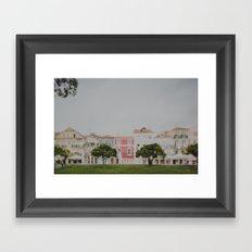 Colourful Row Framed Art Print