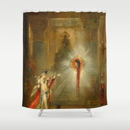 """Gustave Moreau """"The Apparition"""" (1876-1877) Shower Curtain"""