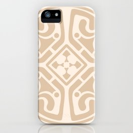 Cream Medalion iPhone Case