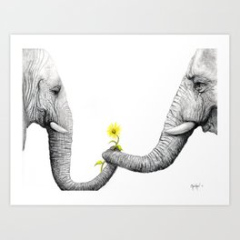 """Up Close You Are More Wrinkly Than I Remembered"" Art Print"
