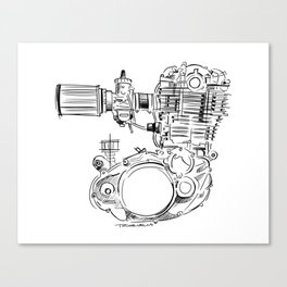 SR500 Motor Sketch Canvas Print