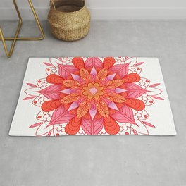 warm colors mandala art Rug
