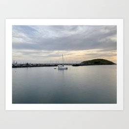 Coffs Harbour Jetty: Boat on the Bay Art Print