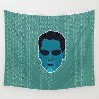 matrix Wall Tapestries featuring Neo - Matrix by Kuki