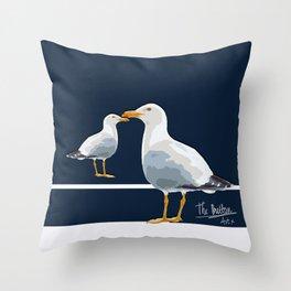 Two seaguls Throw Pillow
