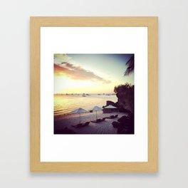 White Beach Framed Art Print