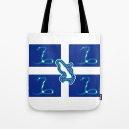 Martinique Flag with Map of Martinique Island Tote Bag