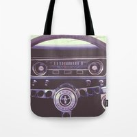 mustang Tote Bags featuring Mustang by Jeremiah Locke