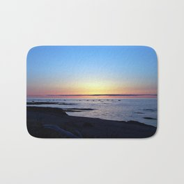 Sun Sets up the River, Across the Sea Bath Mat