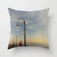 Santa Monica Pier 2 Throw Pillow