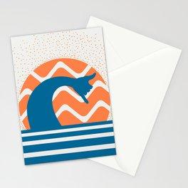 Hang Loose Wave // Sun Surfer Shaka Beach Retro Graphic Design Horizontal Daze Waves Stationery Cards
