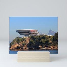 MAC Niterói   Oscar Niemeyer Mini Art Print