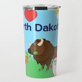 Ernest and Coraline | I love North Dakota Travel Mug