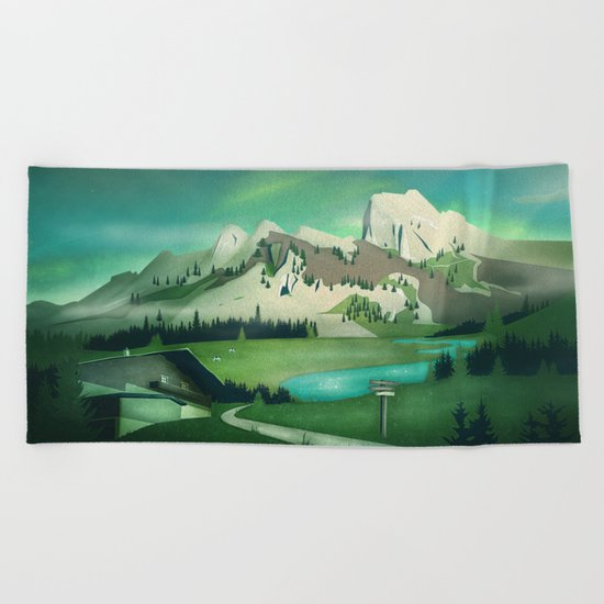 Alpine Enchantment Beach Towel