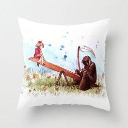 death's playground Throw Pillow