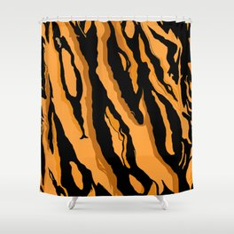 Tiger Print Shower Curtain