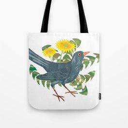 Blackbird & Dandelions Tote Bag