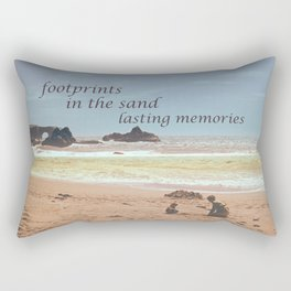 Footprints in The Sand Rectangular Pillow