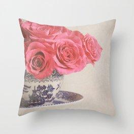 Rose Tea. Throw Pillow