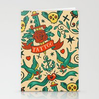 tattoos Stationery Cards featuring Tattoos by Illuminany