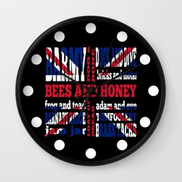 Union Jack Cockney Rhyming Slang Wall Clock