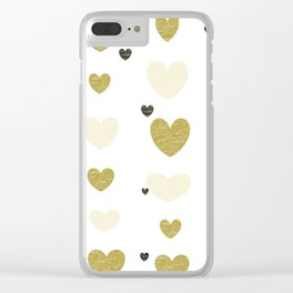Floating Hearts! Clear iPhone Case