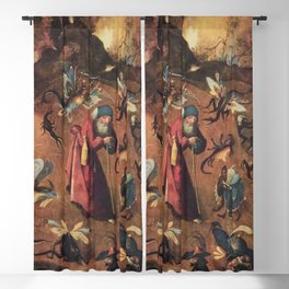 Hieronymus Bosch - Anthony with monsters Blackout Curtain