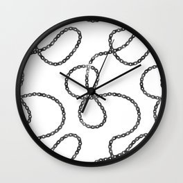 bicycle chain repeat pattern Wall Clock