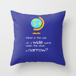 Wide world Throw Pillow