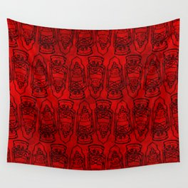Red Lamp Wall Tapestry