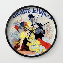 1897 Masquerade ball Paris Opera Wall Clock