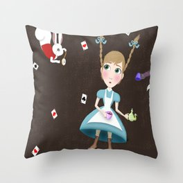 Falling into a Land of Wonder Throw Pillow