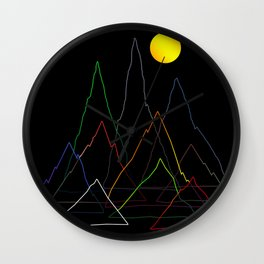 Mountans Lines Wall Clock