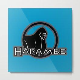 R.I.P HARAMBE Metal Print