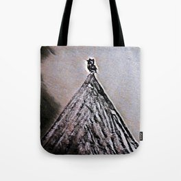 OWL ON A MOUNTAIN PEAK #1 #art #drawing #society6 Tote Bag