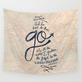 Go Into All The World Wall Tapestry