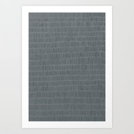 grey stripes Art Print