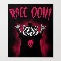 raccoon Canvas Prints featuring Raccoon! by Pigboom Art