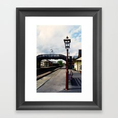 Waiting For A Train Framed Art Print