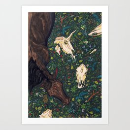 last unicorn Art Print