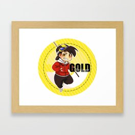 PKMN Trainer Gold Framed Art Print