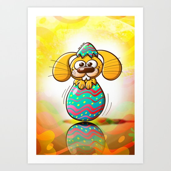 The Birth of an Easter Bunny Art Print