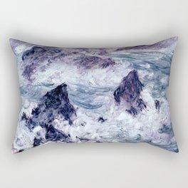 Monet : Storm At Belle Ile Rectangular Pillow