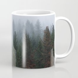 Into the Deep, Foggy, Forest Coffee Mug