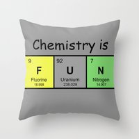 chemistry Throw Pillows featuring Chemistry is by Rhodium Clothing