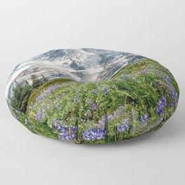 Scenic Landscape Art, Mt. Rainier, Mt. Rainier National Park, Paradise Floor Pillow