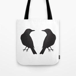 looking at a blackbird Tote Bag