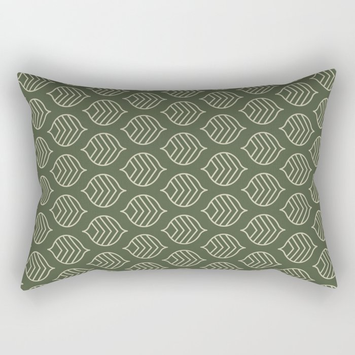 Olive Scales Rectangular Pillow